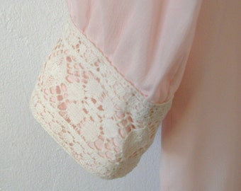 A Vintage Soft Pink Sheath with Lace