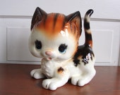Reserved Cute Vintage Kitty Cat Piggy Bank Norcrest Feline Collectible Japan Ceramic Very Rare HTF