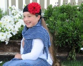 Recycled Denim Chenille Scarf