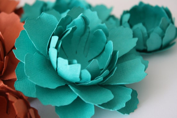 Paper Flower-gift bow- 1 Large Peony