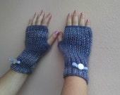 Rosemary  Reserved-Knitted  gloves BLU' MELANGE