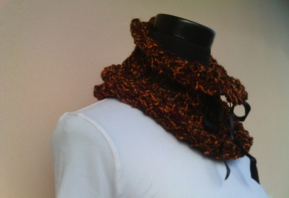 Halloween Knitted Neck Warmer - ooak