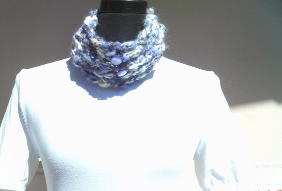 Knitted Neck Warmer PARMA VIOLET-OOAK