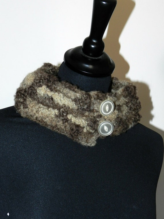 Crocheted Neck Warmer PETRARCA - ooak