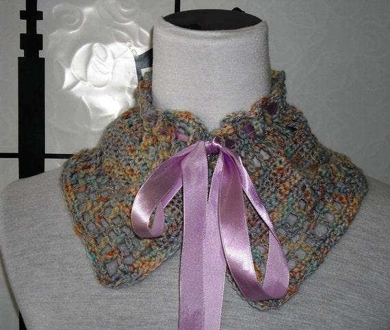 "Crocheted Neck Warmer ""PASTEL"""