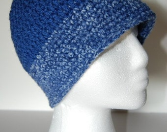 Beanie style hat in blue, male or female