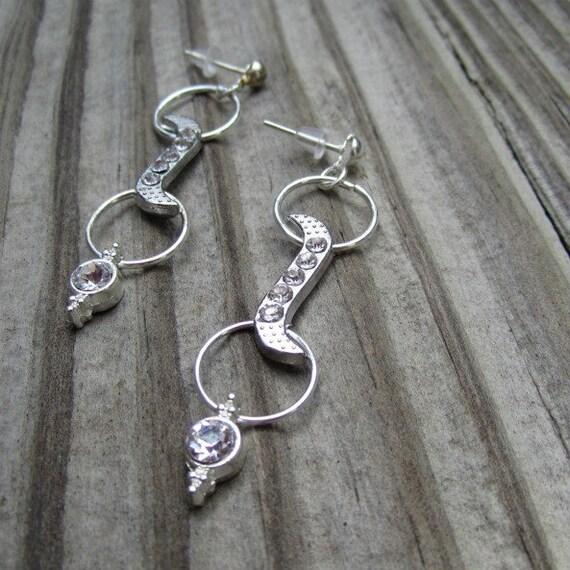 Crystal Earrings - Silver Jewelry - Wedding Jewellery - Bridesmaid - Bride - Prom - Glam