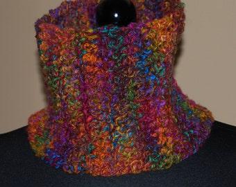 Multicolored Cowl Scarf