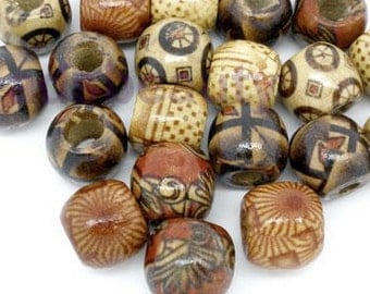 100 dread beads small or large wood