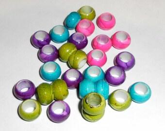 50 european dread beads
