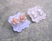 50 - 2 x 2 Earring Cards - HANDWRITING - Flourish Squares