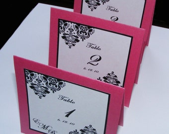Tent Cards - Layered Table Number Cards - Tented and Untented Escort and Table Cards