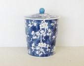 Vintage English Tin Box,  Blue and White Chinoiserie