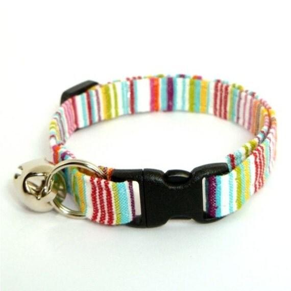 Bright Stripe Breakaway Cat Collar
