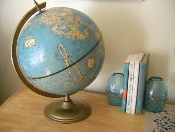 Vintage Cram's World Globe