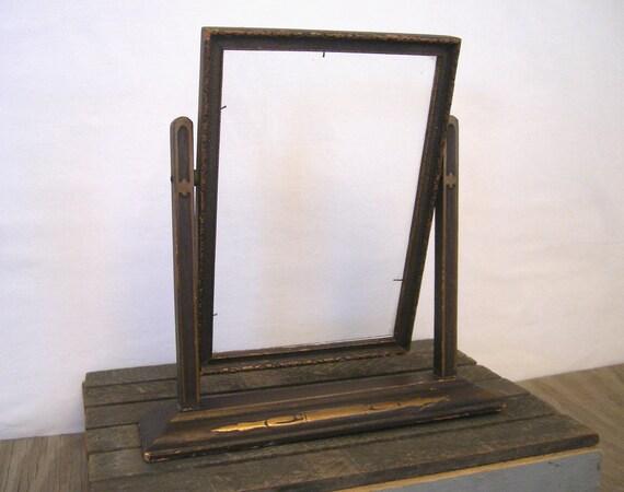 Art Deco wood swing frame....  black & gold....vintage