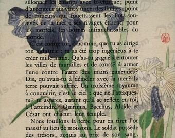 Vintage Book Page Art - Instant Download