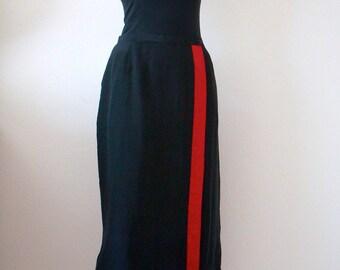 1980s Calvin Klein Silk Wrap Skirt / designer vintage NOS
