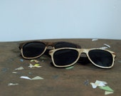 Sweetheart Sunglasses Set His and Her Wood Veneered Sunglasses // Bride and Groom