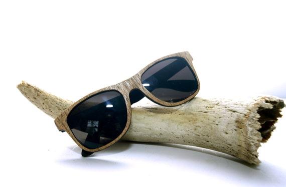 SALE Handcrafted Wooden Veneered Sunglasses Wayfarer Style // OAK Eyewear // no. 1223
