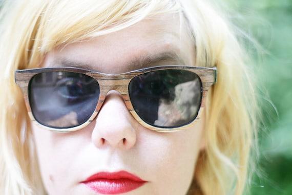The Original Wood Veneer Sunglasses - Ombre Wood Veneer Wayfarers - Fade Sunglasses