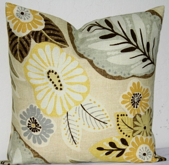 yellow brown richloom decorative pillow covers set of 2 20. Black Bedroom Furniture Sets. Home Design Ideas