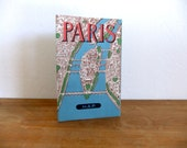 1950s Paris Tourist Folded Map Printed in France