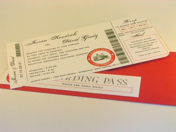 Custom Ticket Invitation Set with Boarding Pass Folder
