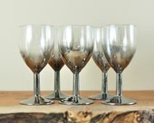 Silver Ombre Wine Glasses with Caddy