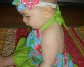 Malibu Baby Chelsea Romper and Matching Headband