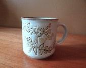 One Stoneware Mug // Floral Design // Kiln Craft // Made in England