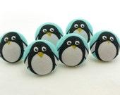 Peppy Penguins Thumbtacks / Magnet / Push Pin / Fabric Buttons / Birds / Crafty Button / DIY Hair Ties / Cute Kawaii / Office Decoration