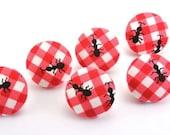 Picnic Thieves Thumbtacks Fabric Covered Button Tacks Ants
