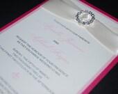 Wedding Invitation-Rhinestone Buckle-Custom Sample-Renny Style-Custom Colors