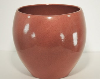Ceramic Vase, Red Iron Shino Glaze, Handmade, Pottery Wheel, Classic Style, Ornamental Vessel, Home Decor, MJS, 85