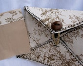 Awesome any time use, blank card made of 100% fabric I picked brown toile this time.
