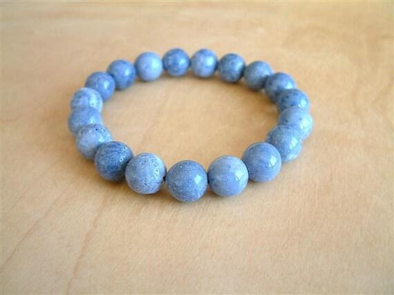 BASIK: Blue Sponge Coral Bracelet