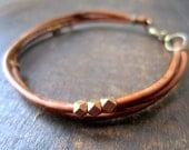 Natural Brown Leather Rope Bracelet