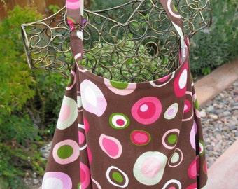 Nursing Cover SALE/ Breastfeeding Cover/ Nursing Apron in Chocolate Brown with Pink Dots/ Baby Shower Gift