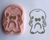 Hand Carved Mammoth Skull Rubber Stamp