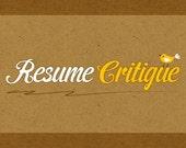 Resume Critique