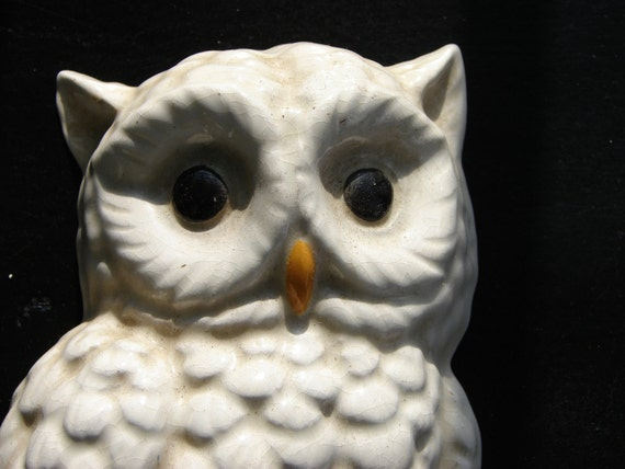 Reserved: Vintage Ceramic Owl Wall Decor
