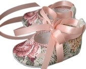 Baby Girl Shoes, Infant, Toddler, Pre School, Infant Sizes, Natasha, Handmade by Pink2Blue
