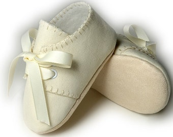 Baby Boy Shoes/Slipper/Bootie, Linen, Infant and Toddler Sizes, Wedding, Christening, Handmade by Pink2Blue Shoes