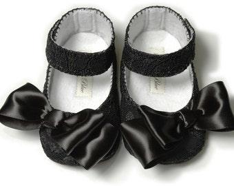 Alice Baby Girl Shoe, Dressy, Wedding, Flower Girl, slipper/bootie. Infant, Toddler, Pre School, Handmade by Pink2Blue.