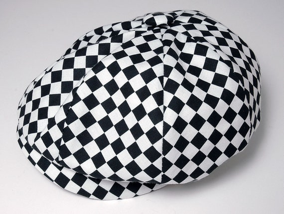 Baby Boy Hat, Checkered Black and White Newsboy Cap, Infant - Preschool Sizes, Custom  Handmade by Pink2Blue.