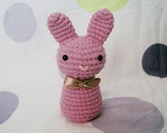 Strawberry Neapolitan Bunny-Amigurumi Bunny