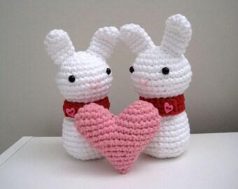 Heart Bunny-Amigurumi Bunny