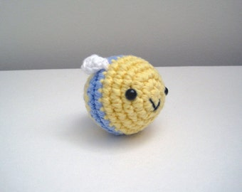 Little Blue Bee-Amigurumi Bee