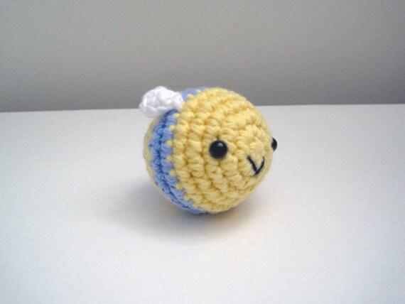 Little Blue Bee-Amigurumi Bee